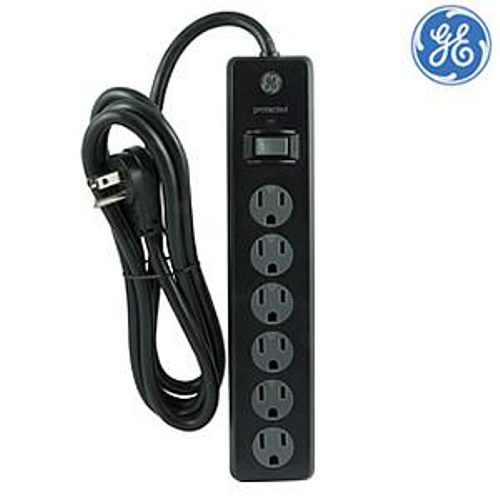 general electric 6 outlets surge protector 5ft cord techmania rh techmania ca